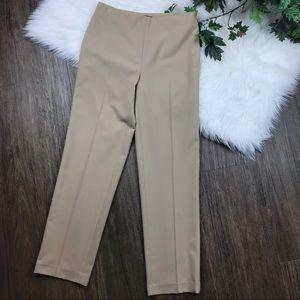 Talbots Khaki Classic Side Zip Slim Dress Pants